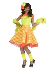 Rock 'n roll rok geel oranje