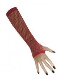 Net handschoenen vingerloos rood