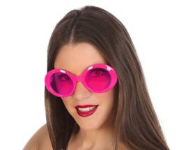Hotpink disco bril dames