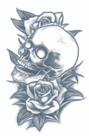 Prison Tattoos Skull and roses