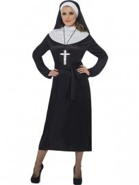 Zwart/wit nonnen jurk