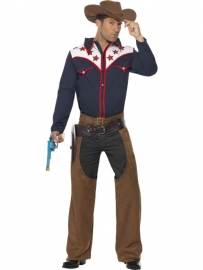 Old american rodeo cowboy