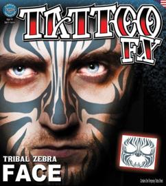 Face Tattoo tribal zebra