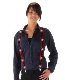 Bretels rood/zwart met LED