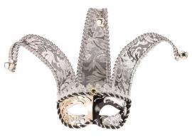 Venetiaans oogmasker joker zilver