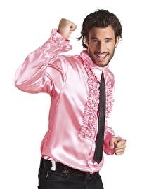 Disco blouse roze met roezels
