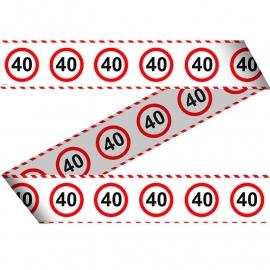 Markeerlint verkeersbord 40 jaar