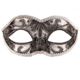 Venetiaans masker loup zilver