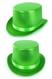 Hoge hoed metallic groen