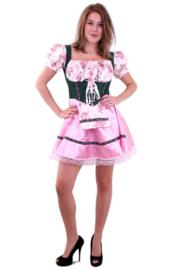 Tiroler jurkje pink groen