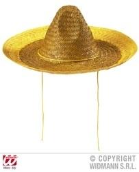 Sombrero dames geel
