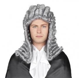 Pruik rechter grijs