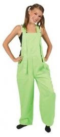 Fluor groen tuinbroek kids