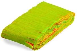 Neon regenboog crepe guirlande 6 m