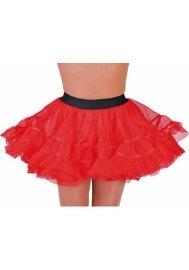 Petticoat kort rood
