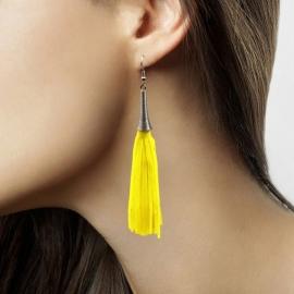 Gele neon oorbellen