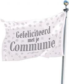"""Gevelvlag """"Gefeliciteerd met je communie"""""""