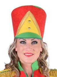 Harmoniehoed rood/geel/groen