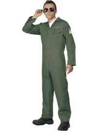 Piloot F16 kostuum groen