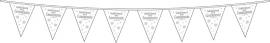 Vlaggenlijn Communie wit 10 meter