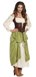 Middeleeuwse boerin kostuum