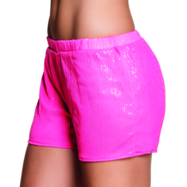 Hotpants sequins neon pink