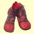 Clownsschoenen rood
