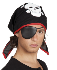Piraten bandana en ooglap