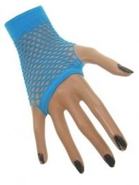 Nethandschoenen blauw vingerloos