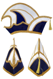 Prinsenmuts deluxe donkerblauw
