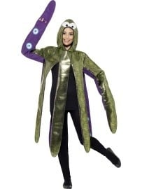 Kostuum Octopus paars/groen