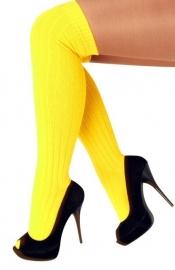 Kniekousen neon geel