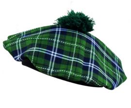 Schotse baret dames groen