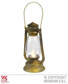 Loop lantaarn brons/goud flikkerend