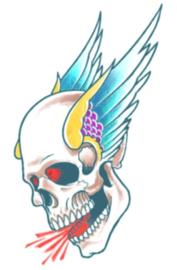 Bikers Tattoos Winged skull