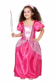 Prinsessenjurk hotpink
