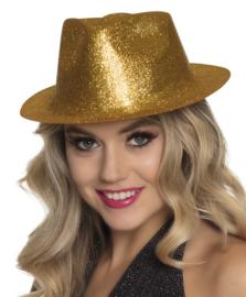 Hoed sparkle goud