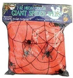Spinneweb oranje