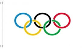 Vlag Olympisch 90x150cm