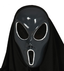 Alien masker zwart