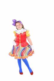 Clownsjurkje rainbow meisjes