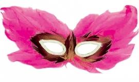 Oogmasker veren Fuchsia