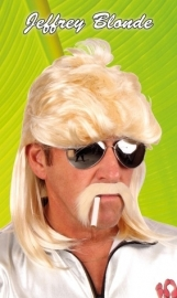 Pruik Jeffrey blond
