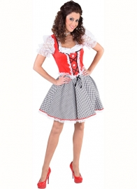 Dirndl nicky jurkje rood