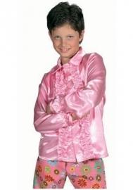 Kinder roezel blouse roze