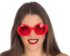 Rode disco bril dames