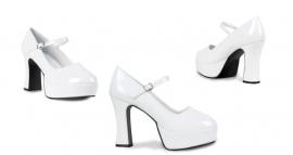 Schoenen Disco wit