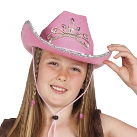 Hoed cowgirl pink