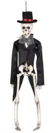 Skeleton groom hangdeco 43 cm