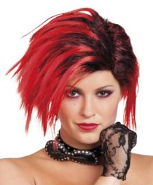 Pruik punk scarlett